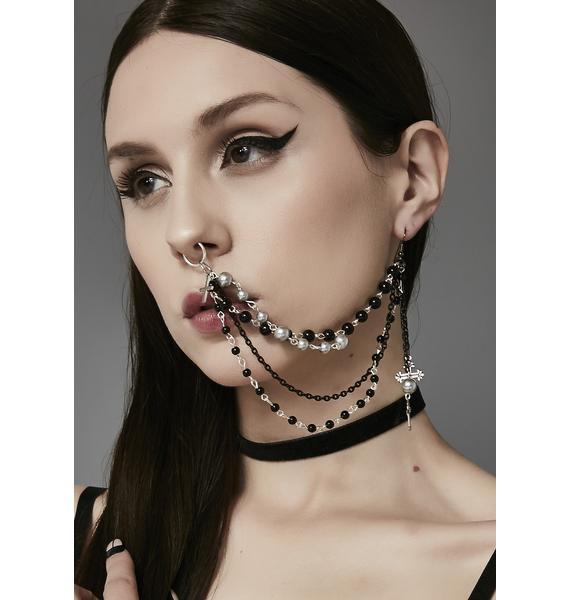 Exhibitionist Multi-Strand Nose Chain