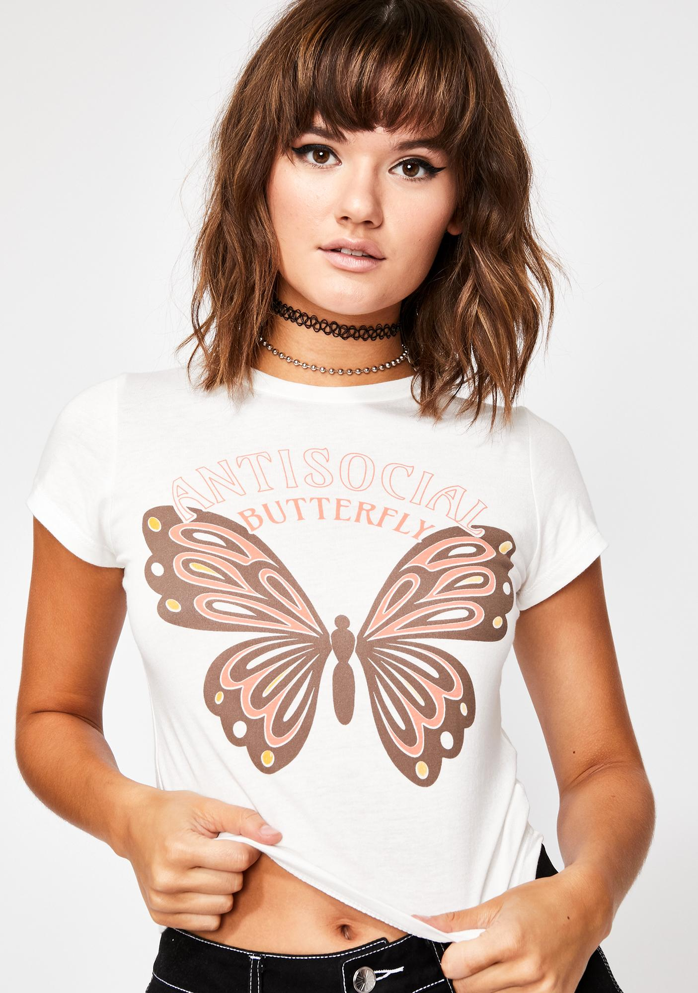 Antisocial Butterfly Graphic Tee