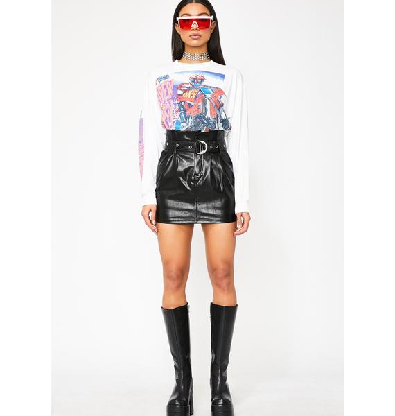 Honey Punch Brace Yourself Mini Skirt
