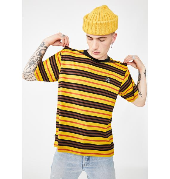 Obey Access Classic Striped Tee