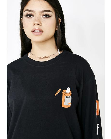Blackout Nermal Pills Long Sleeve Top
