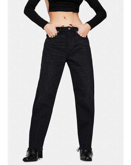 Curfew Straight Up High Rise Jeans