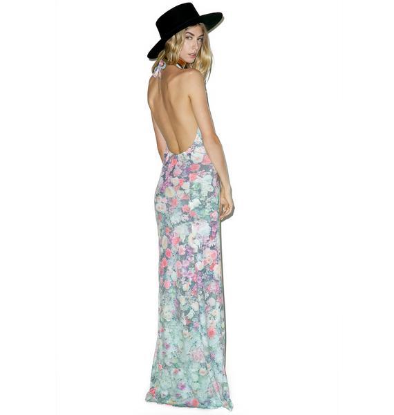 Wildfox Couture Paris Garden Halter Dress
