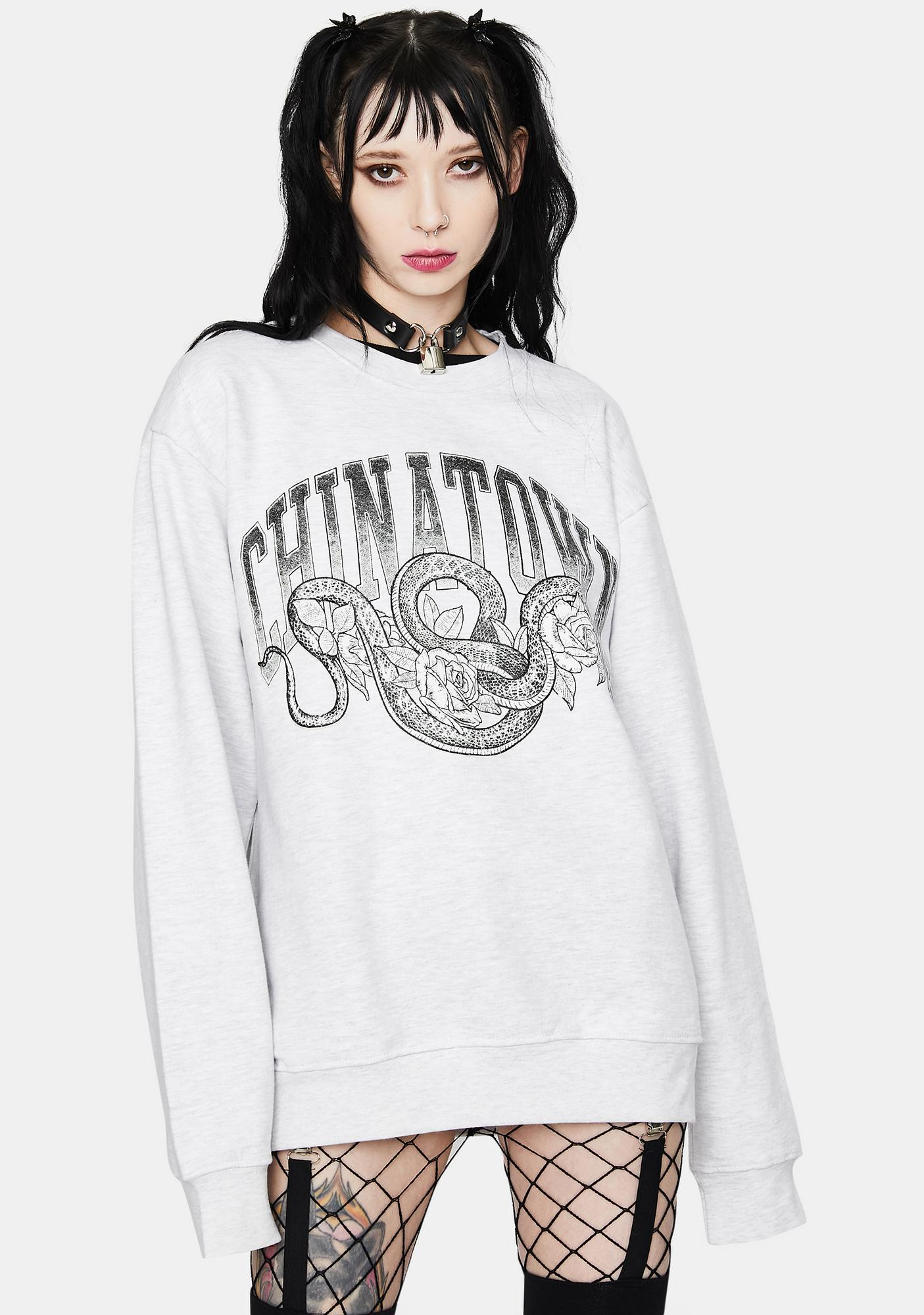 CHINATOWN MARKET Snake Arc Crewneck Sweatshirt