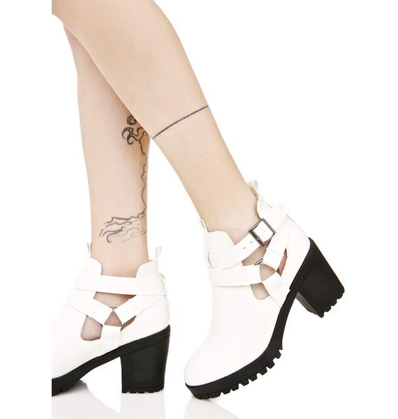 Swept Away Cutout Boots