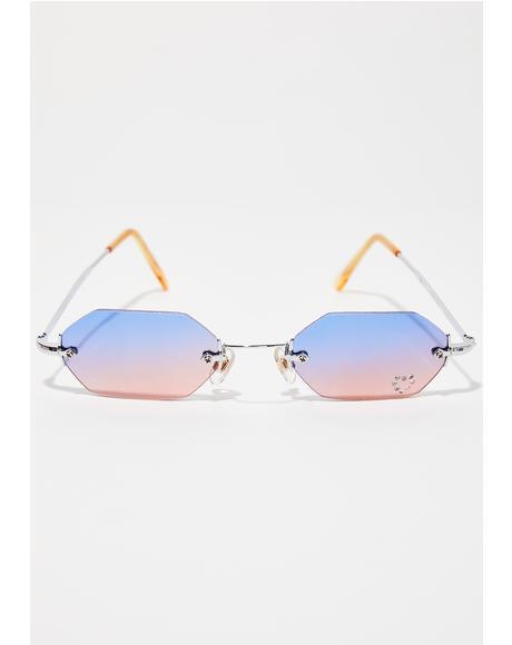 90s Comeback Octagon Sunglasses