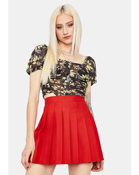 Scarlet Just Like Candy Pleated Skirt