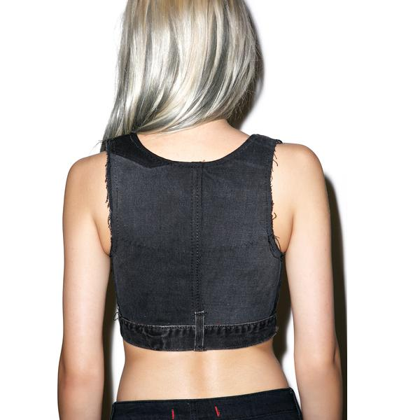 Crusader Denim Crop Top
