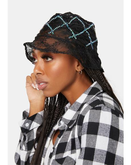 Shine All Night Sheer Bucket Hat