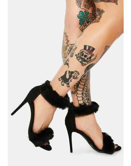 Noir Step Right Up Stiletto Heels