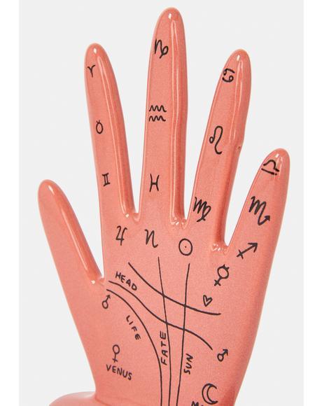 Zodiac Palm Drawing Hand Sculpture