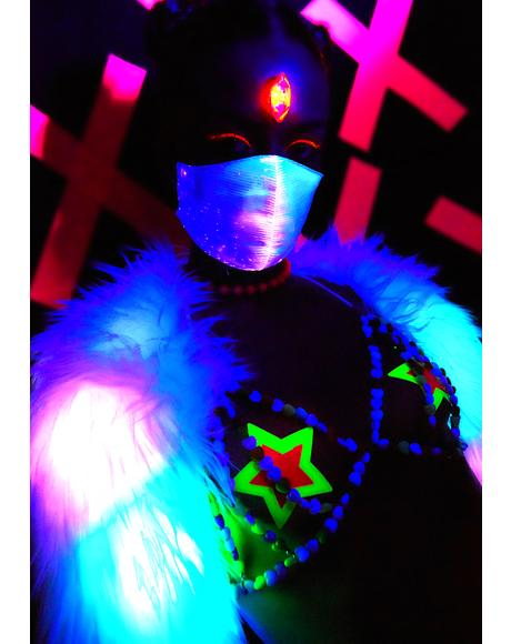 Playa Playerz Club Fiber Optic Mask
