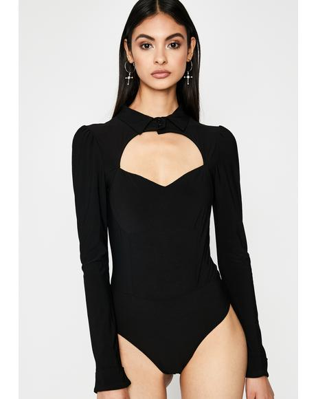 Polo Primadonna Cut-Out Bodysuit