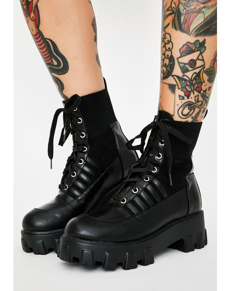 Dark Cyber Army Combat Boots