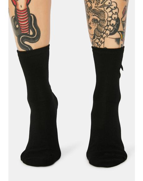 Give U My Heart Crew Socks