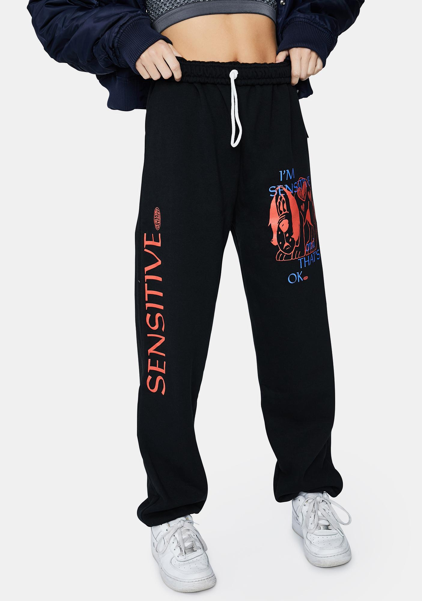 Petals and Peacocks Sensitive Graphic Sweatpants