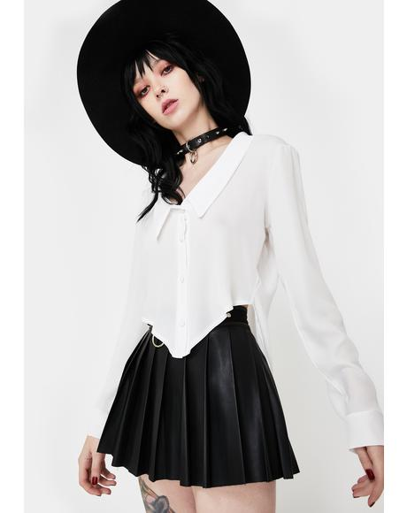 Collared Button Up Blouse