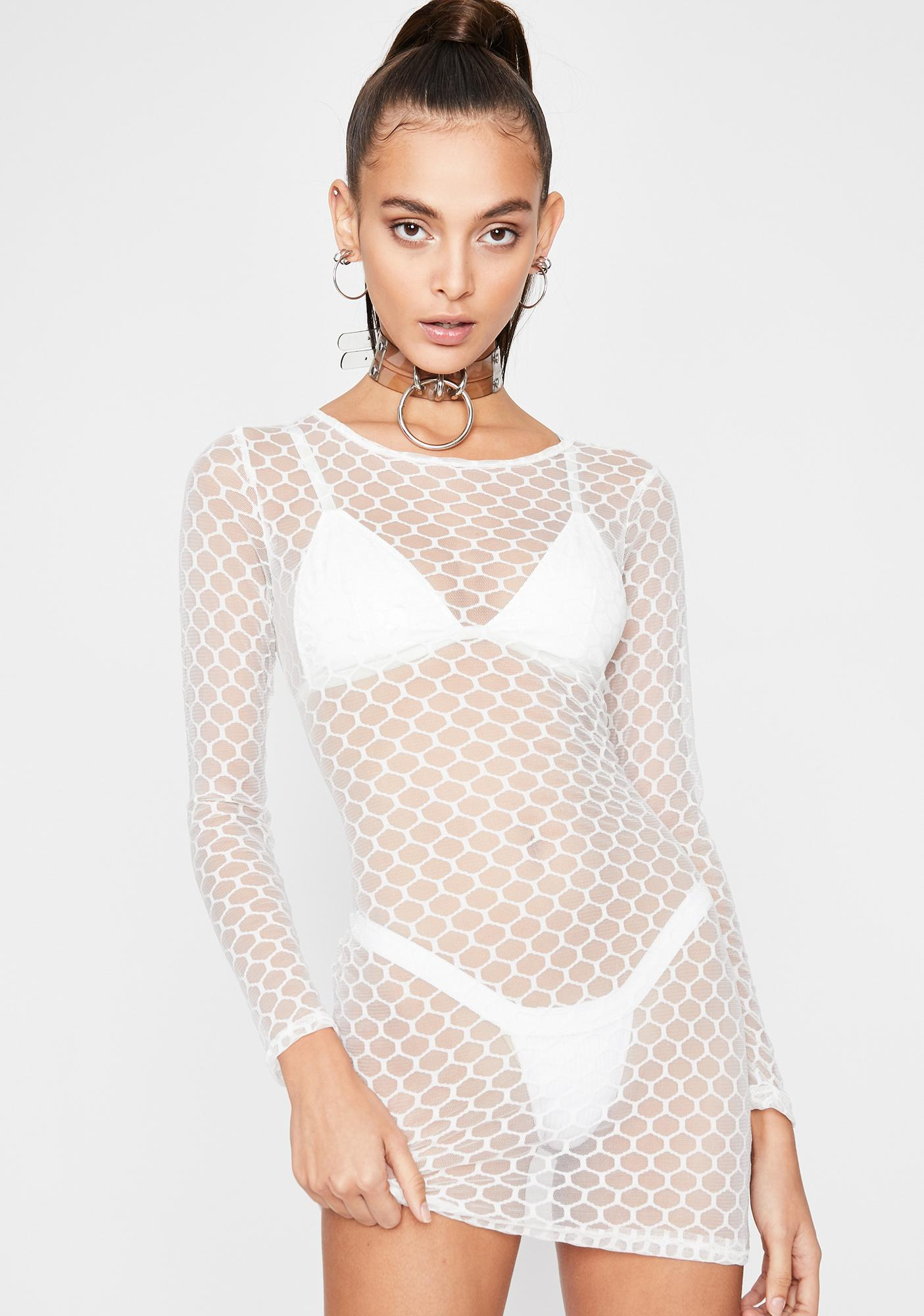 Angel Nightlife Honey Sheer Dress