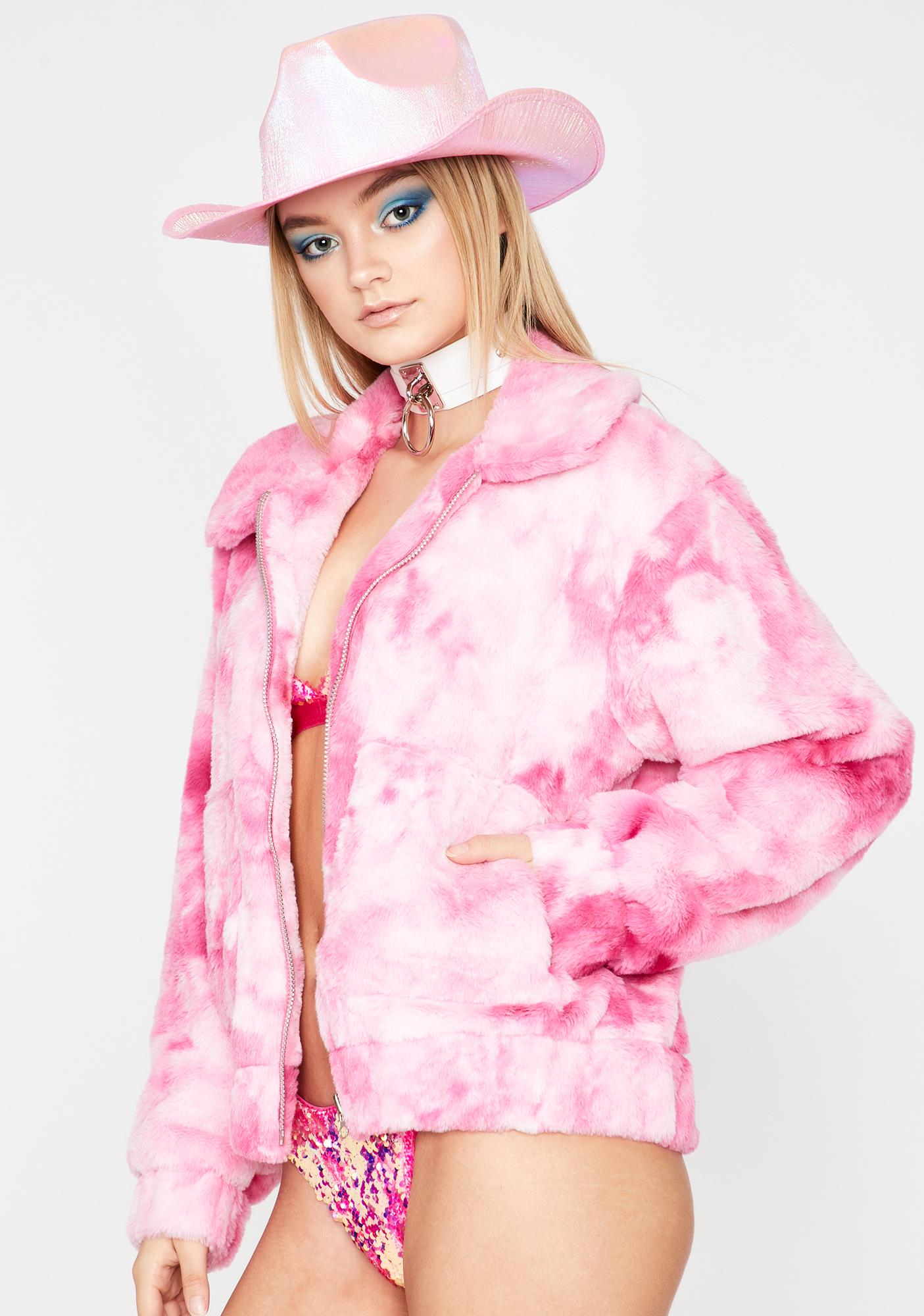 Sugar Shock Faux Fur Jacket