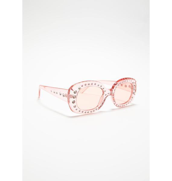 Sweet High Class Attitude Rhinestone Sunglasses