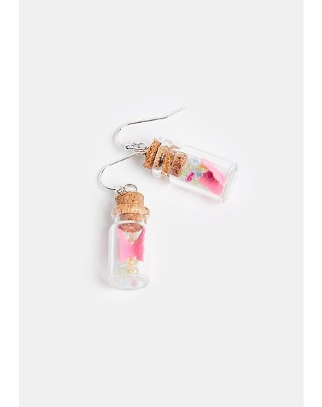 Captivate Me Butterfly Jar Earrings