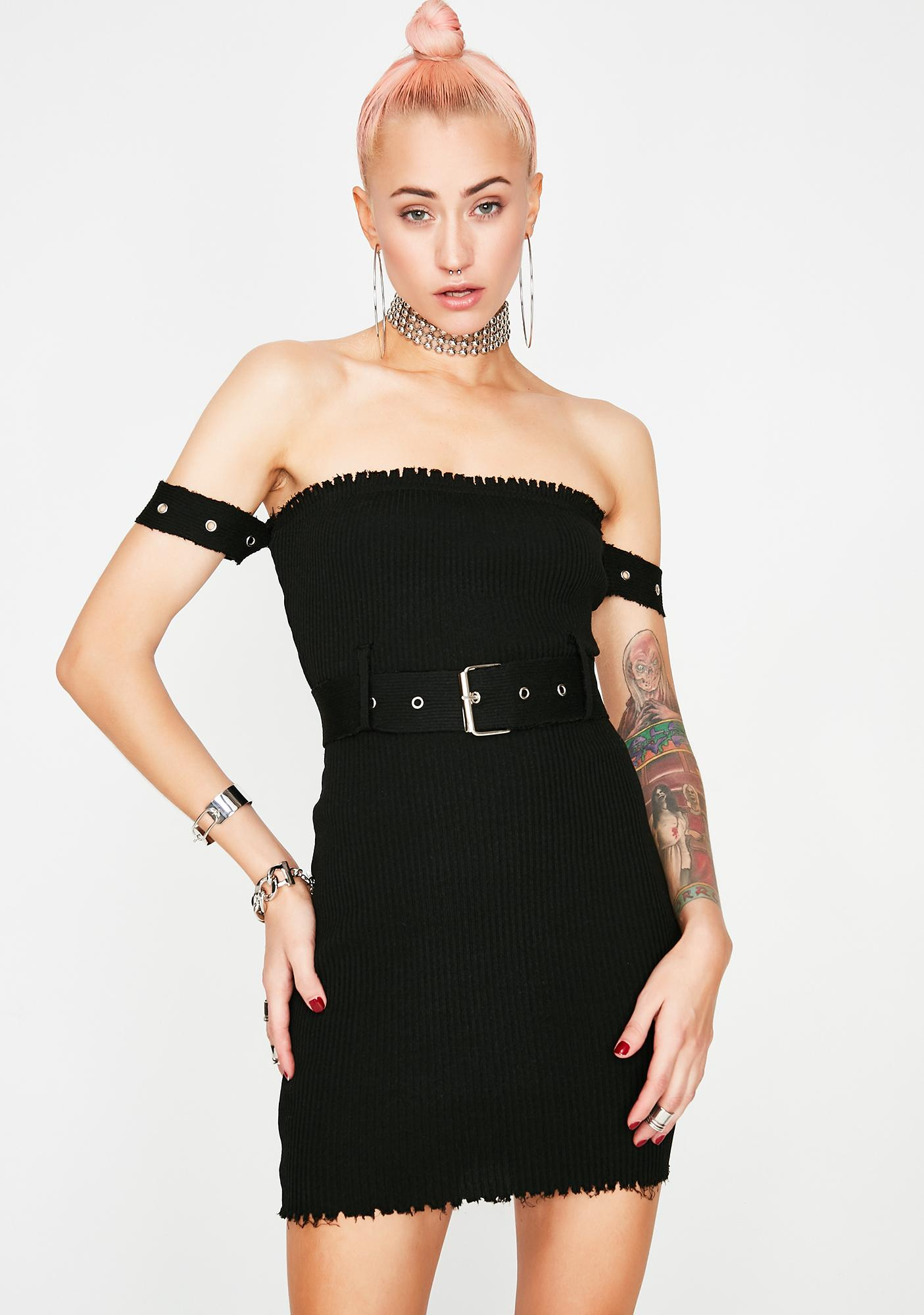 All Torn Up Belted Dress