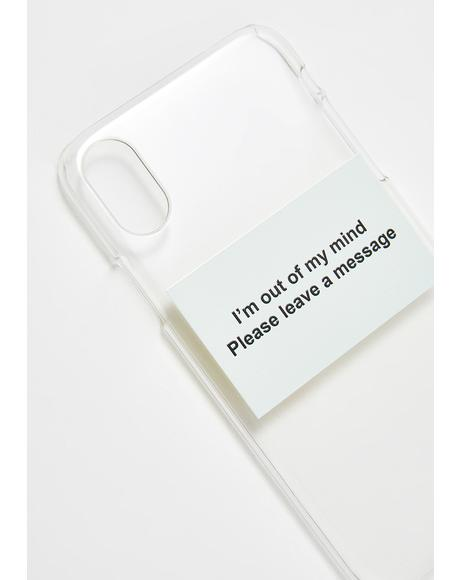 Leave A Message Phone Case