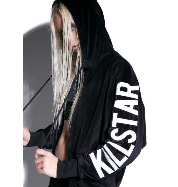 Killstar Idol Batwing Velvet Hoodie