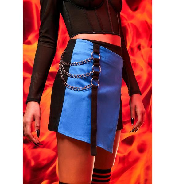 Current Mood Miserable At Best Colorblock Mini Skirt