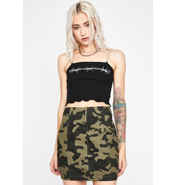 Out On Patrol Camo Skirt