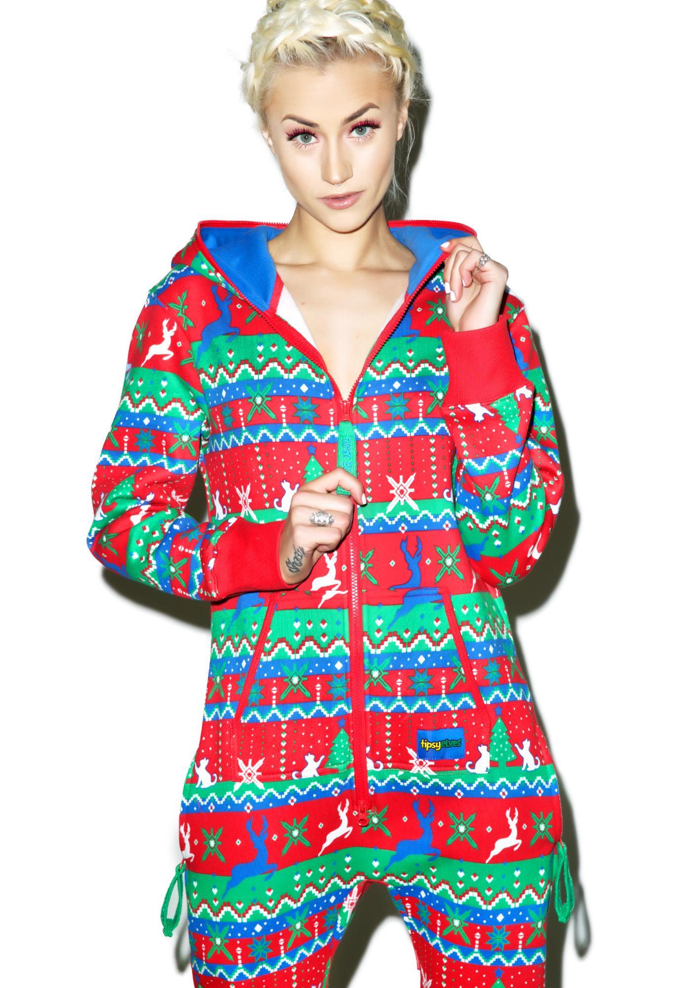 Tipsy Elves Christmas Present Jumpsuit