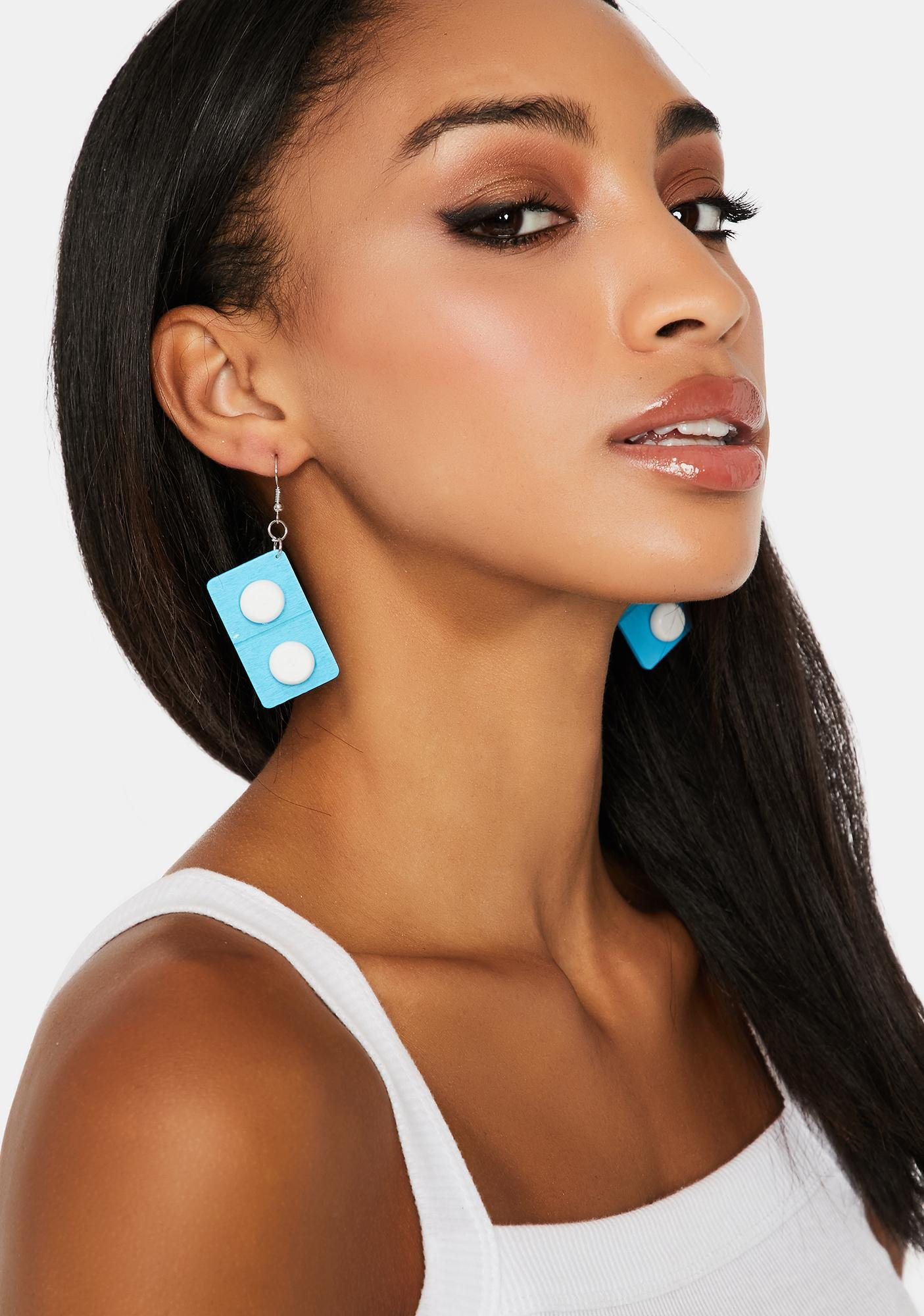All Fall Down Domino Earrings