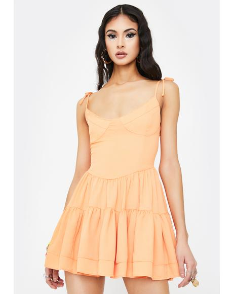 Orange Bijou Mini Dress