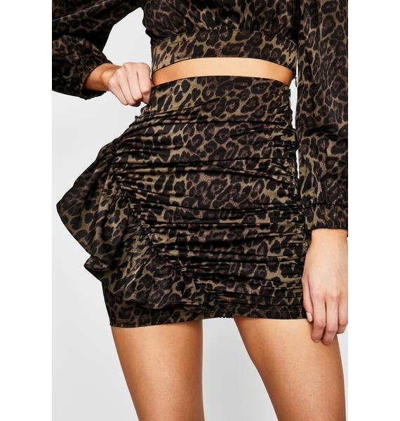Olive Above The Claw Ruffle Skirt