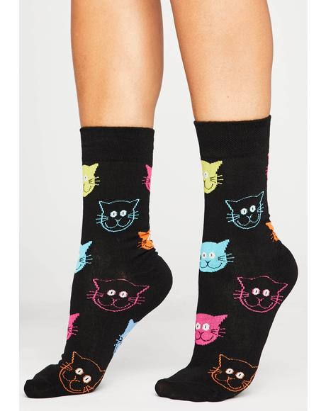 Fur Real Cat Socks