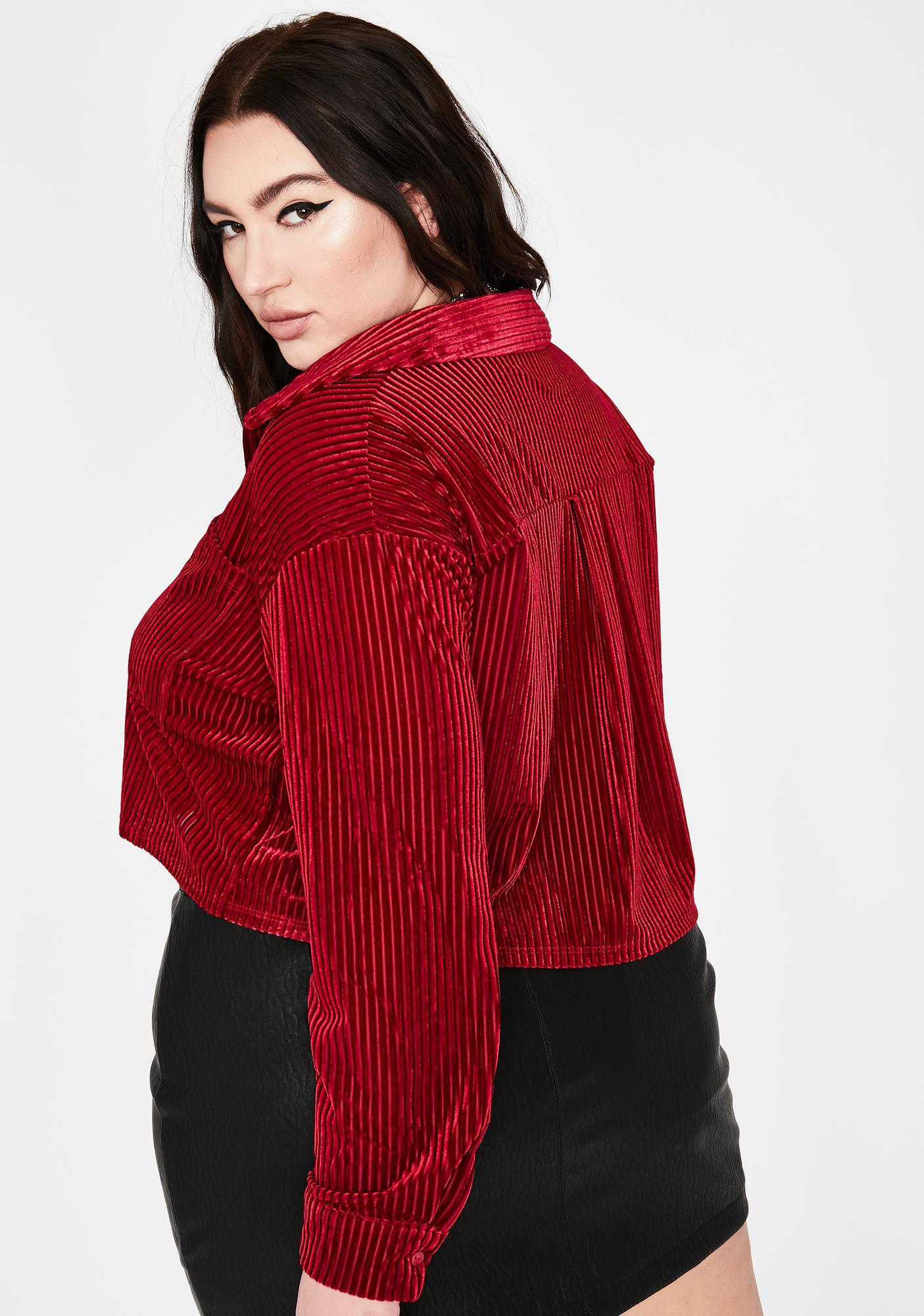 Ruby Bae Borderline Obsessed Velvet Top