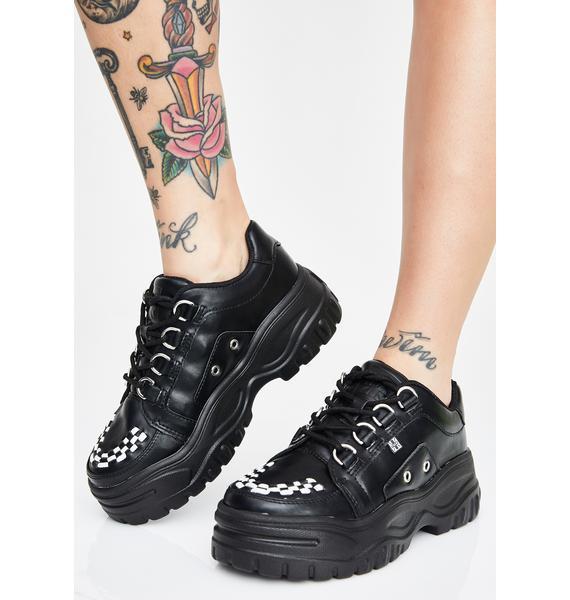 T.U.K. Black Wave Platform Creeper Sneakers