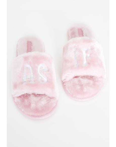 Clueless Cutie Fuzzy Slippers