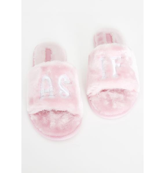 Current Mood Clueless Cutie Fuzzy Slippers