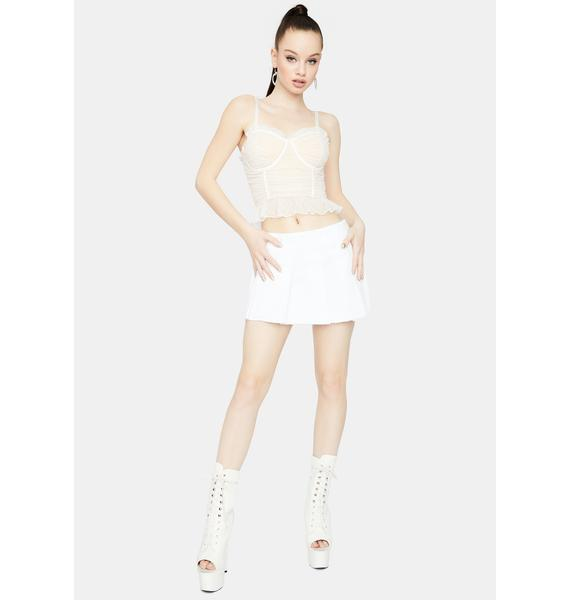 Ivory Live My Dream Ruched Cami Top