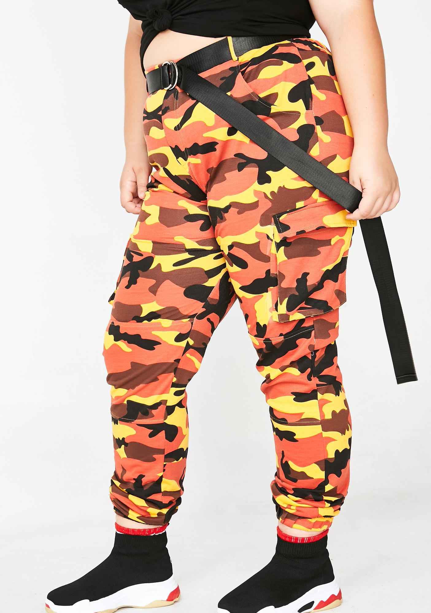 Vibrant Empowered Babe Camo Pants