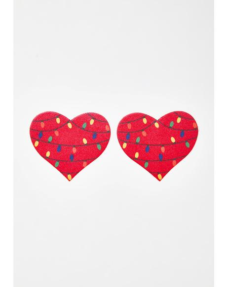Lit Heart Pasties