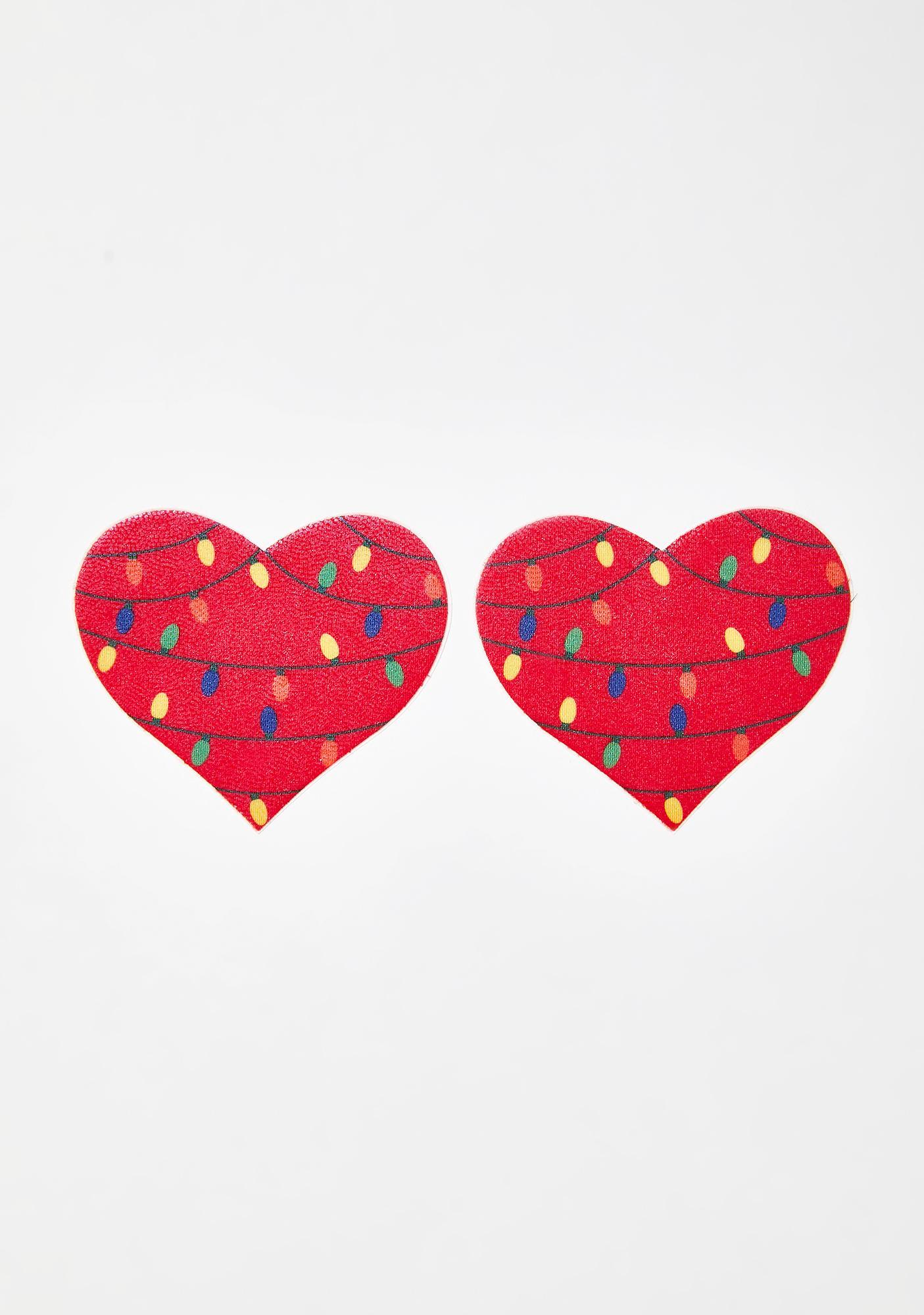 Pastease Lit Heart Pasties