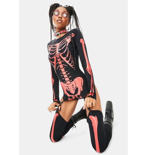 Forplay Fiery Frame Sexy Skeleton Costume