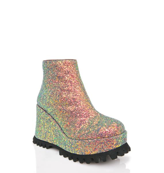 Shellys London Renee Platform Wedge Sneaker