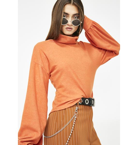 Spice It Up Mock Neck Top