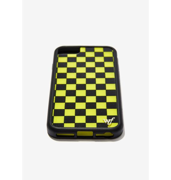 Wildflower Yellow Checkers iPhone Case