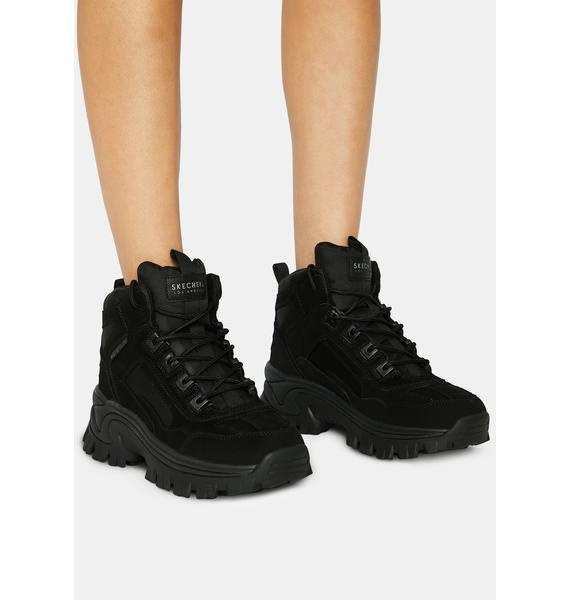 Skechers Black Street Blox Block Gawkers Sneakers
