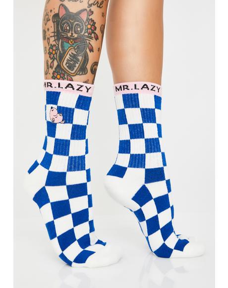 Mr Lazy Checkered Socks