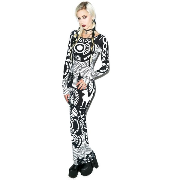 Killstar Vulture Long Sleeve Maxi Dress